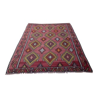 Vintage Turkish Kilim Rug - 7′1″ × 10′2″