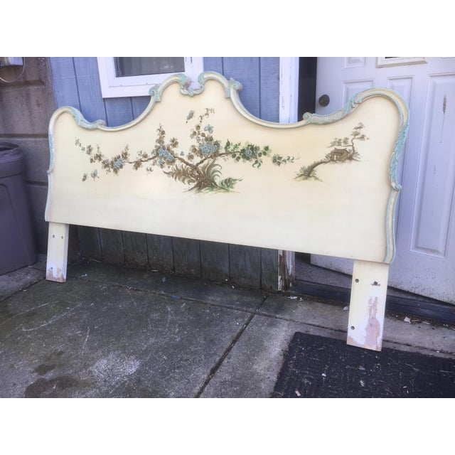 Asian Style Hand Painted King Headboard - Image 4 of 7
