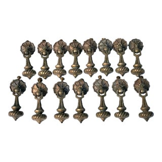 Reclaimed Metal Dangling Drawer Knobs Pulls - Set of 15