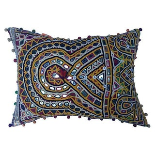 Indian Mirrored Gypsy Pillow