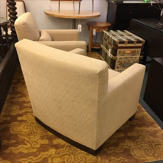 Sutter of Cali Fabric Arm Chairs - A Pair - Image 4 of 6