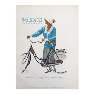 Vintage Women's Bicycle Poster, 1926
