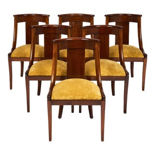"""French Empire """"Gondole"""" Chairs - Set of 6"""