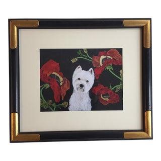 Judy Henn Framed Westie Dog Print