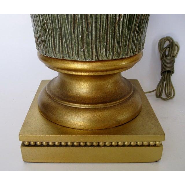 Image of Italian Sculpted Ceramic Lamp