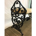Image of French Wrought Iron 1920's Bench
