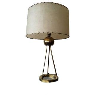 Walter von Nessen Tripod Brass Lamp