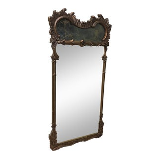 Antique Gold & Stone Trumeau Mirror