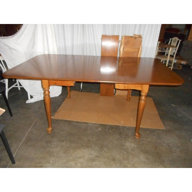 Ethan Allen Drop Leaf Gate Leg Style Dining Table 2 Leaves