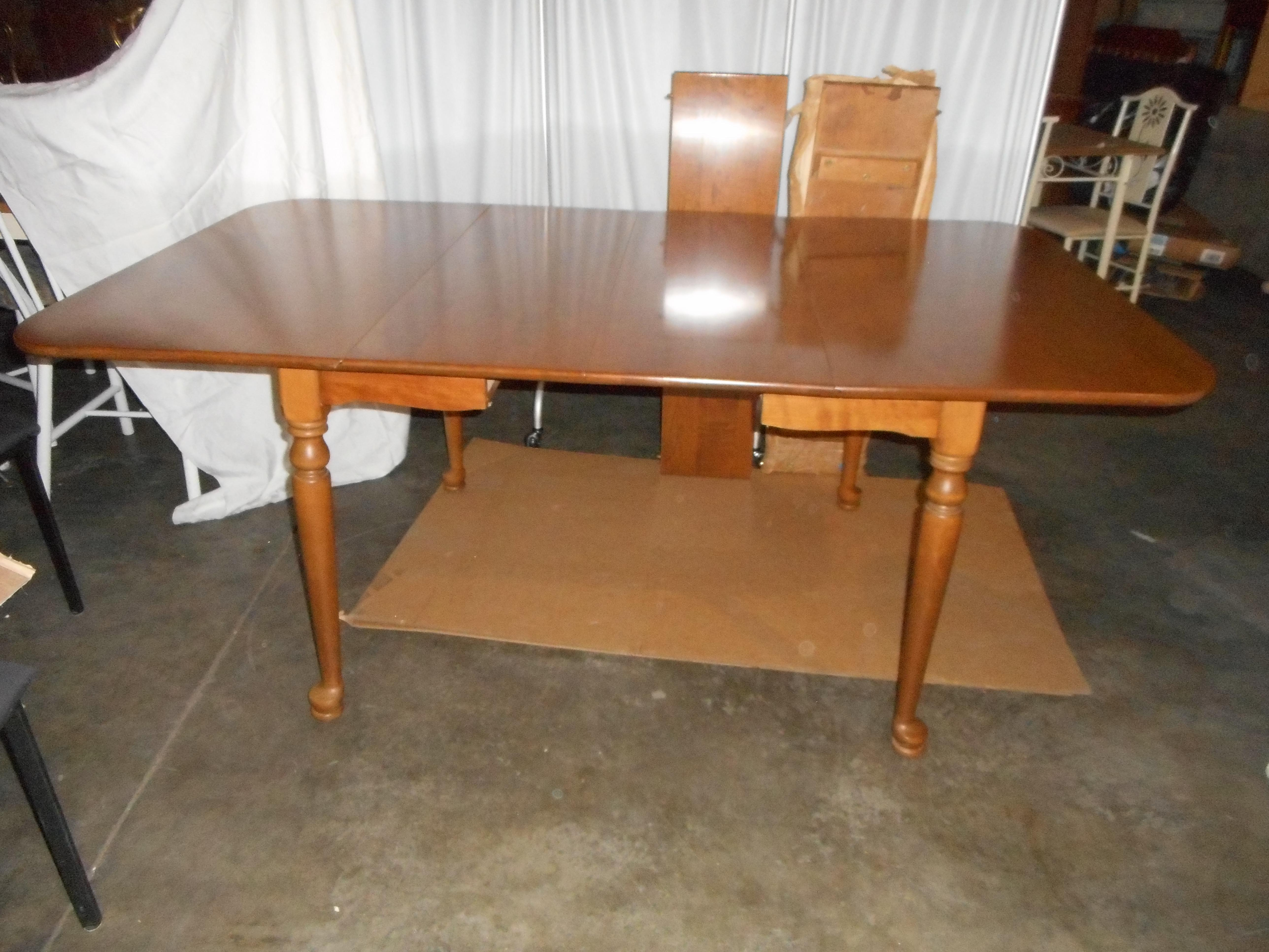ethan allen dropleaf gateleg style dining table 2 leaves pads image