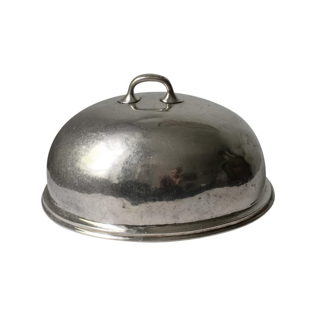 Image of Vintage Hotel Silver Cloche Dome Cover