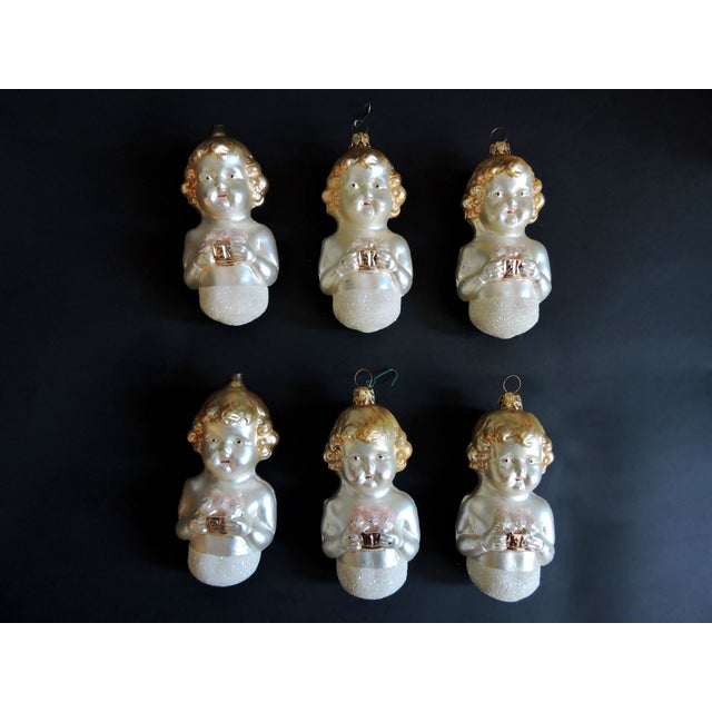 West German Vintage Glass Christmas Ornaments - Image 2 of 5