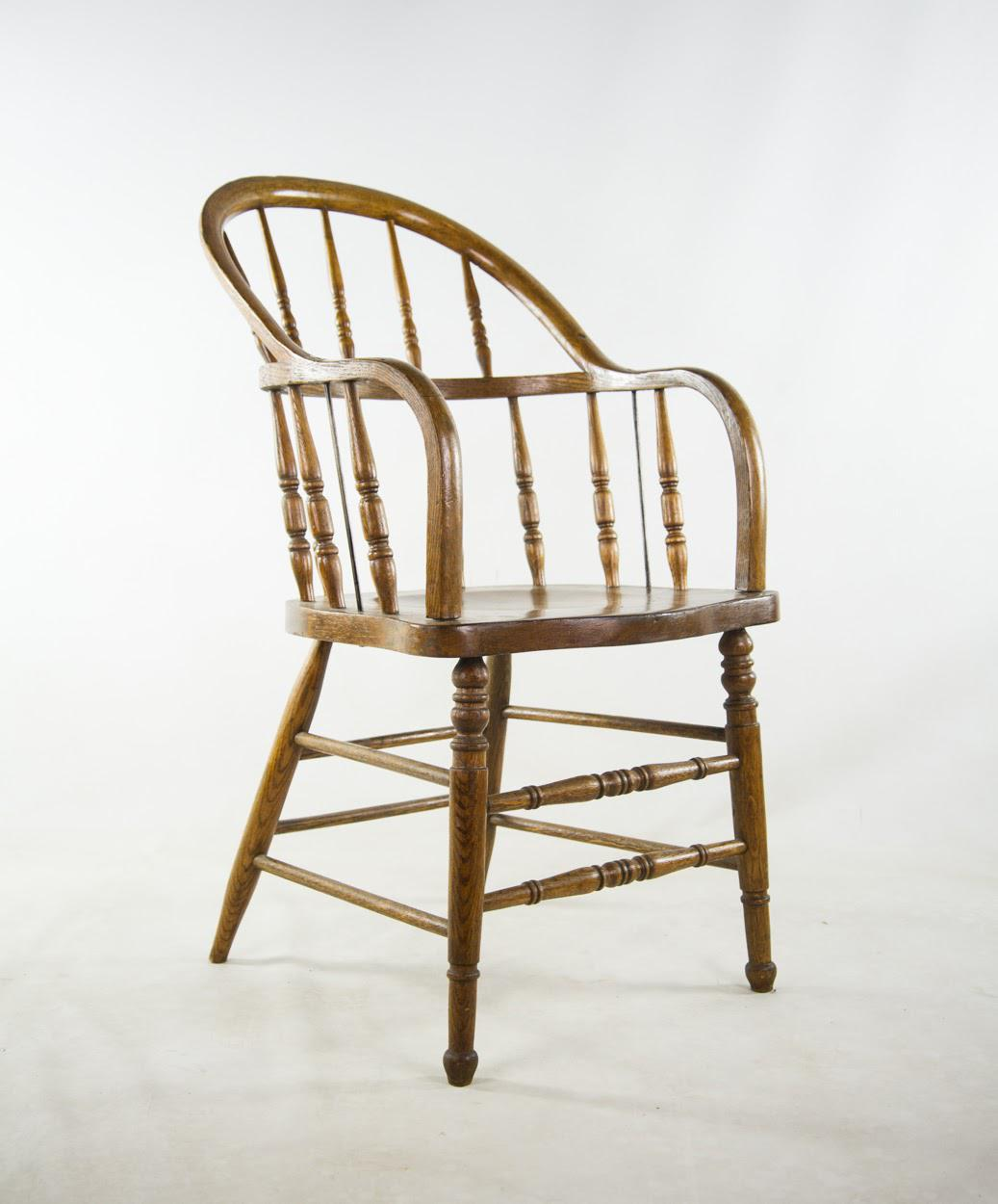 American Courthouse Roundback Windsor Chairs   A Pair   Image 5 Of 11