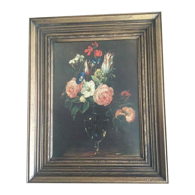 Traditional Moody Floral Painting - Image 1 of 4