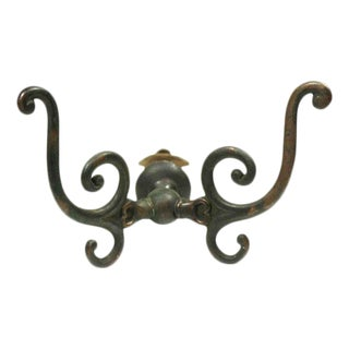Brass Double Wall Tree Hook