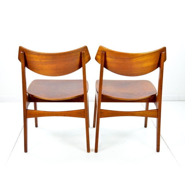 Image of Erik Buck Vintage Danish Modern Teak Dining Chairs - Pair