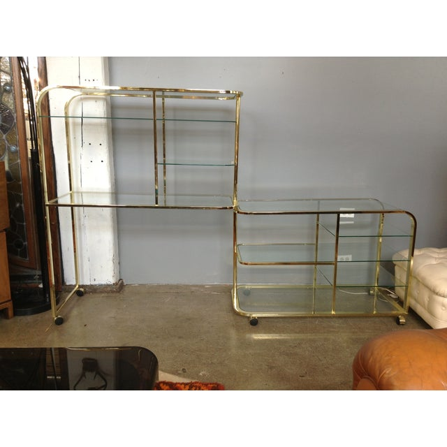 Image of d.i.a Brass & Glass Swivel Etagere