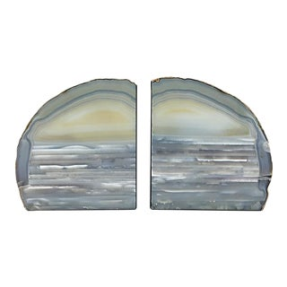 Vintage Geode Bookends - A Pair