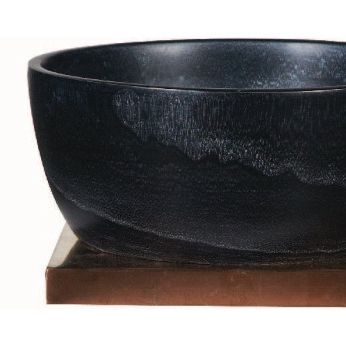 Vintage Onyx Wood Bowl - Image 2 of 2