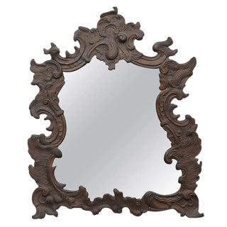 Continental Repoussé Copper Wall Mirror