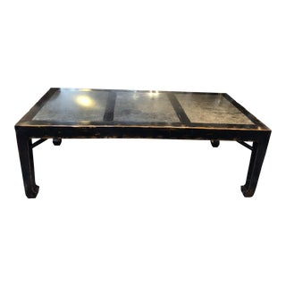 Vintage Asian Influenced Table With Stone Inserts