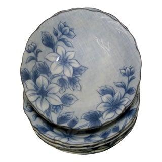Blue Floral Cereal Bowls -  Set of 6