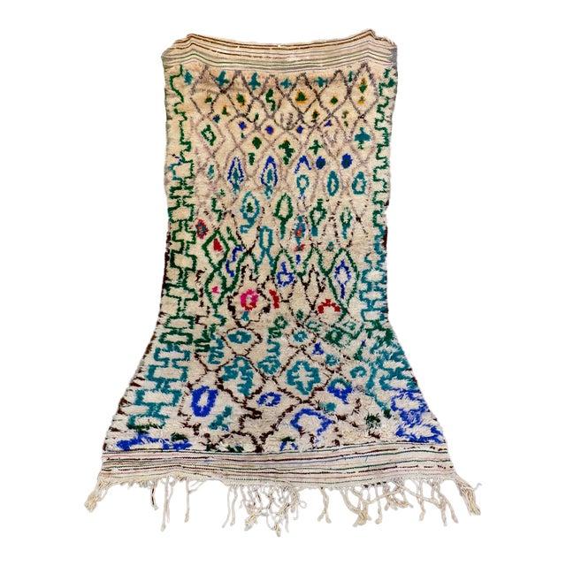 Blue Atlas Vintage Moroccan Rug - 4′8″ × 10′ - Image 1 of 6