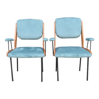 Vintage Italian Arm Chairs - A Pair