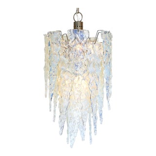 """Ghiacciolo"" Murano Glass Iridescent Chandelier"