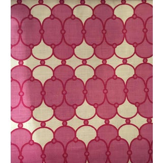 Amanda Nesbit Raspberry Quatrefoil Print Allannah II 10.5 Yards Fabric