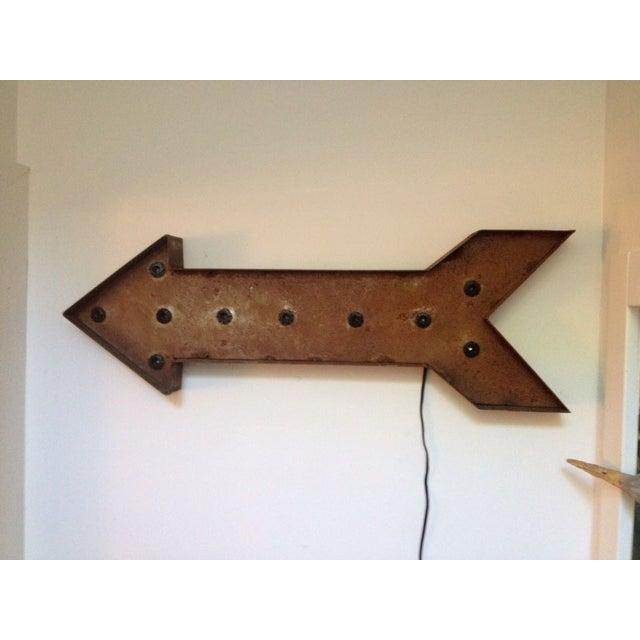 Image of Industrial Arrow Light Vintage Sign