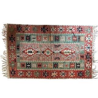 Beautiful Turkish Kilim - 3′11″ × 6′2″