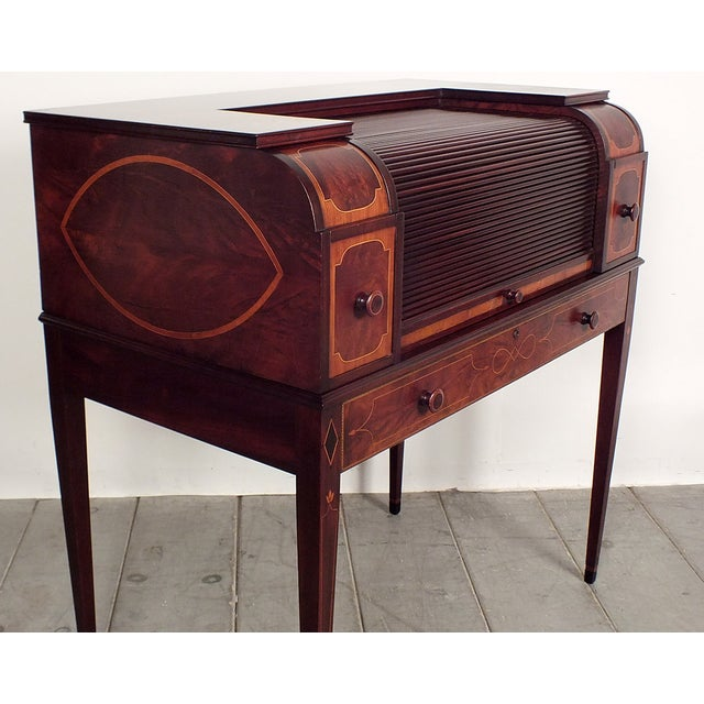 Image of Early 1900s Traditional English Cylinder Desk