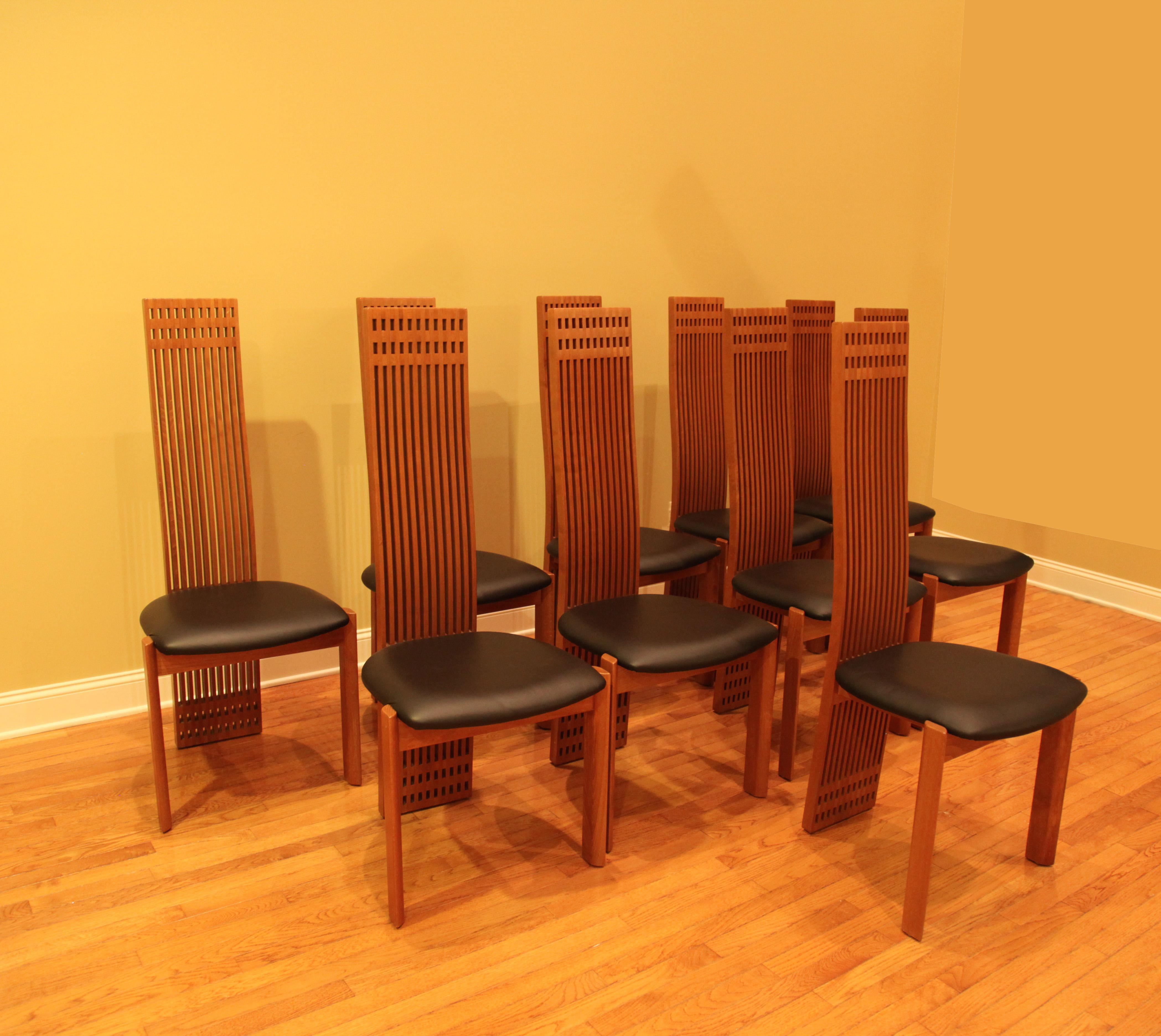 Charming Maurice Villency Dining Chairs   Set Of 10   Image 4 Of 7