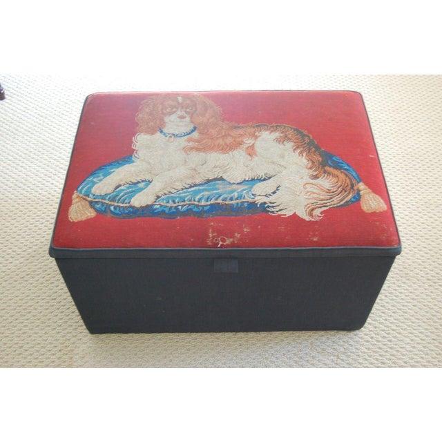 Needlepoint Ottoman Hinged Box - Image 2 of 5