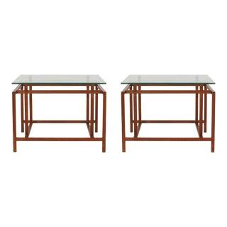 Komfort Teak Architectural Frame End Tables - a Pair