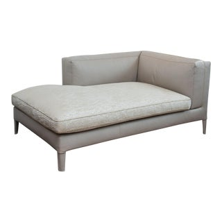 Antonio Citterio Italian Leather Chaise Lounge For Maxalto