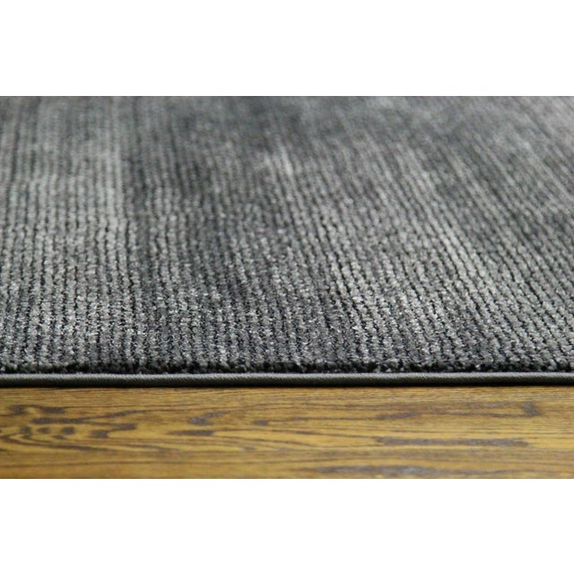 Black and Gray Striped Rug - 2′8″ × 5′ - Image 3 of 4