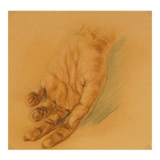 Vintage Hand Study Drawing, C. 1960