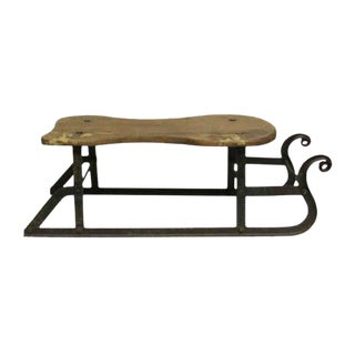 19th Century Wrought Iron Antique Elf Sled