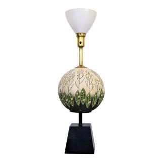 Tye of California Mid-Century Modern Ceramic & Glass Table Lamp Retro Millennial Pink