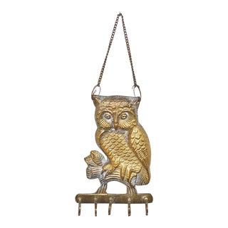Owl on a Branch Hanging Key Holder