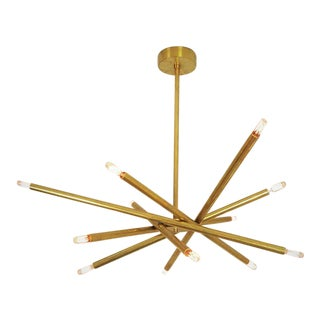 "Sculptural Brass ""Nest"" Chandelier by Blueprint Lighting, Model 120"