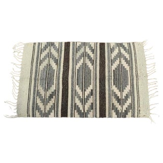 "Navajo Gray & Brown Flatweave Rug - 1'11"" x 3'2"""