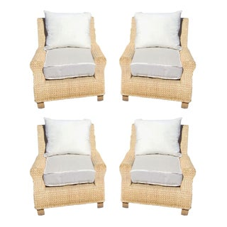 Ralph Lauren Woven Chairs - Set of 4