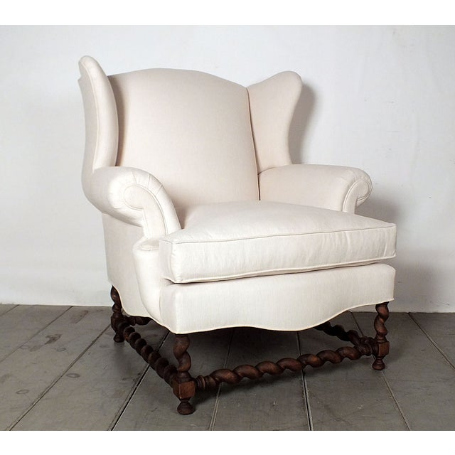 Antique Traditional Wingback Chairs - A Pair - Image 4 of 9