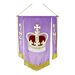 Vintage Handmade King of Kings Church Banner