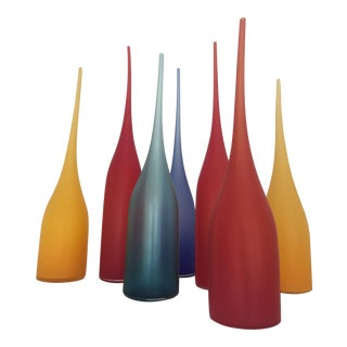 Handblown Glass Vessels - Set of 7