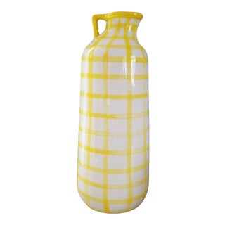 Yellow Plaid Vase
