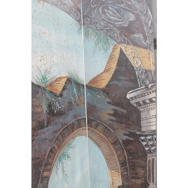 Painted 4-Panel Screen - Image 6 of 11